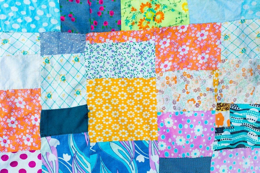 материал для одеяла из лоскутов