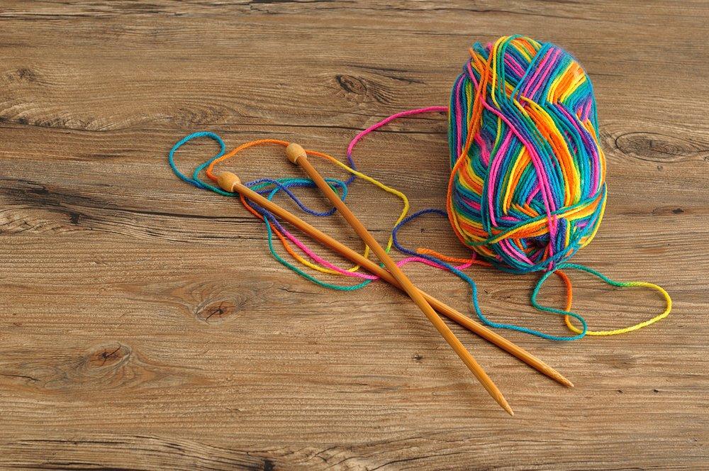 Разноцветная секционная пряжа