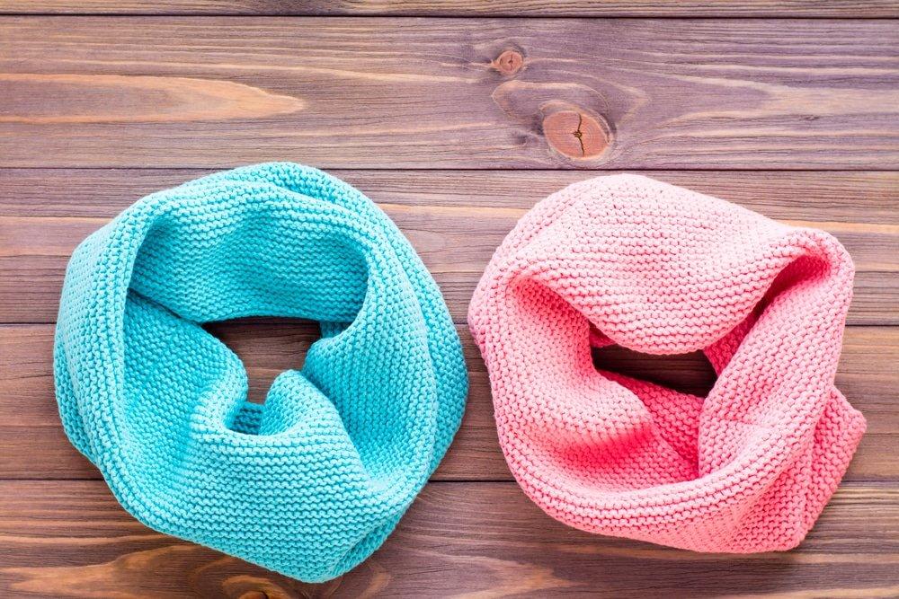 Виды шарфов в форме хомута