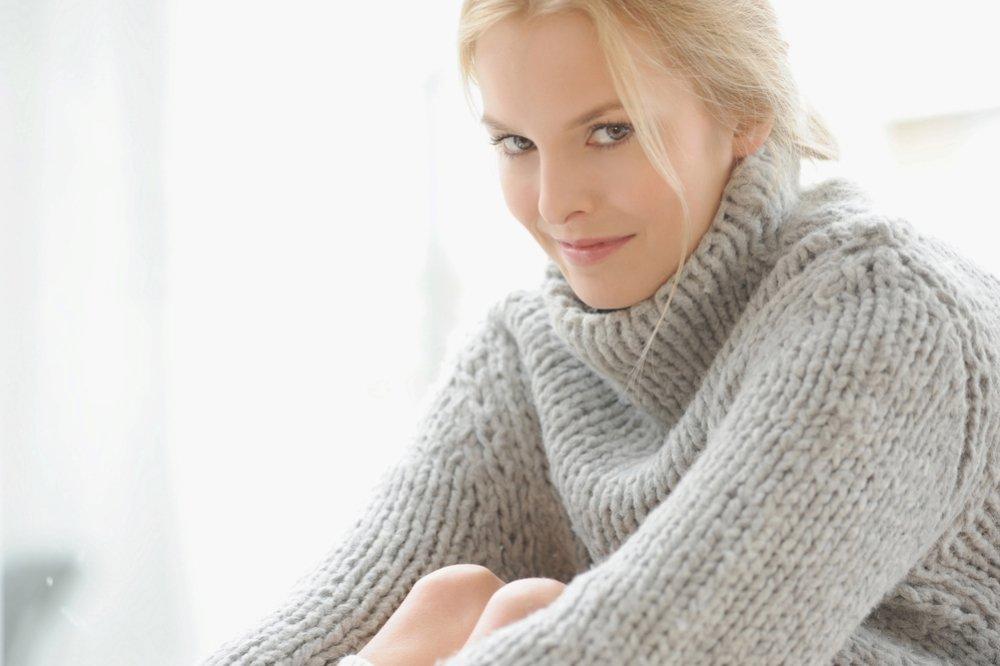 Вязание свитера из толстой пряжи