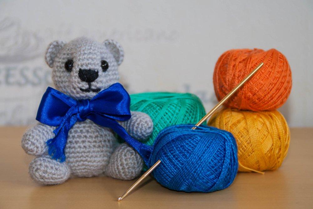 Порядок действий для вязания мишки