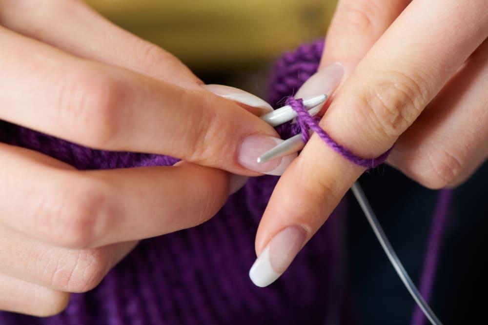 Техника вязания узора колоски спицами